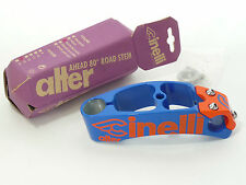 "Cinelli Alter stem Vintage Threadless 130mm blue/orange racing Bike 1"" New NOS"