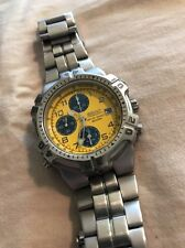 SEIKO 7T32-6K19 CHRONOGRAPH, RARE MEN'S WATCH,YELLOW FACE.SERVICED