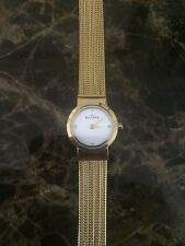 SKAGEN Womens SKW2009 Gold Crystal Bezel Mesh Strap 19mm Watch 133369
