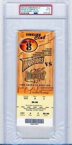 PSA 4 2002 Warriors Rockets Full Ticket Yao Ming Rookie Year GSW DEBUT