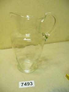 7493. Alter Jugendstil Glaskrug Glaskanne Glas Kanne Krug Karaffe