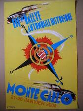 Affiche    MONTE CARLO 2000 III ème  rallye automobile historique
