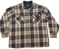 vintage 90s BACKPACKER Plaid Flannel Shirt XL trucker faded grunge acrylic