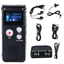 Rechargeable Mini 16GB Digital Sound Voice Recorder Dictaphone MP3 Player Record