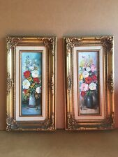 Two Impasto Floral Painting By Helman