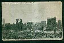 1906 San Francisco's Fire and Earthquake Jewish Synagogue Ruins Postcard
