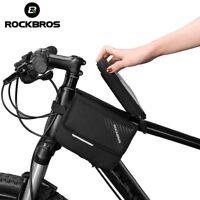 ROCKBROS MTB Bike Bicycle Frame Bag Top Tube Pouch Waterproof 6.0'' Phone Case