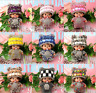 Shiny Monchhichi In The Hat Fully Cystal Pendant Key Chain Keyring Bag Accessory