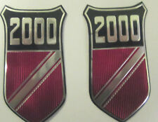 PAIR OF FORD  2000 BADGE INSERTS- GENUINE-FOR CORTINA MK1- FL004