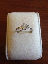 Beautiful Swarovski Crystal White Gold Filled Ring  Size Q