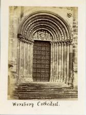 Germany, Wurzburg Cathedral  Vintage albumen print. Deutschland.  Tirage album