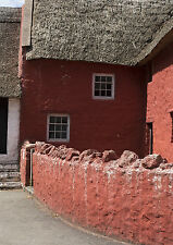 A3 St Fagans Red Cottage Thatched Roof Photographic Epson Print only (Unframed)
