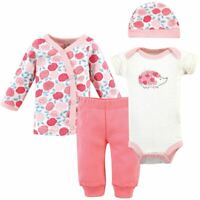 Touched by Nature Organic Preemie Layette Set, 4-Piece Set, Rosebud