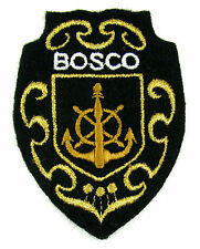 Ecusson brodé militaire ♦ (patch/crest embroidered) ♦ BOSCO MARINE NATIONALE