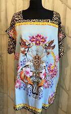 14df6b6552 Just Cavalli Beachwear Roberto Cavalli Leopard beach cover up T Shirt Dress  M BN