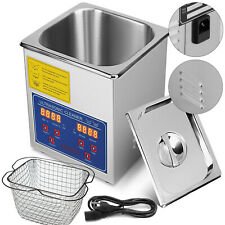 2 Liter Industry Heated Ultrasonic Cleaners Cleaning Equipment Heater w/Timer US