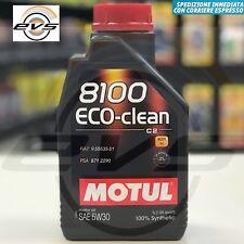 Motul 8100 Eco-clean 5W30 Olio Motore Auto 100% Sintetico C2 FIAT 9.55535-S1
