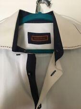 Franck Michel Men's Dress Shirt 100% Cotton White Size Large