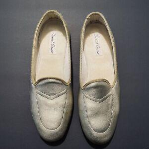 Daniel Green Women's 'Meg' Split Leather Flat Slip On Casual Shoes 7.5 N Gold