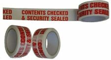 "High Strength ""CONTENTS CHECKED & SECURITY SEALED"" Packing Tape 48mm x 66m"