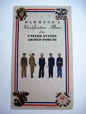 """1942 """"Hammond's Insignia Identification Album"""" w/ Colored Symbols & Strips   *"""