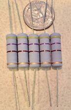 5 PCS 470 ohm 470R 5Watt Carbon Film Resistors  5% Tolerance