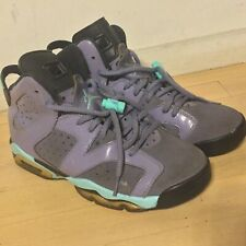 Nike Air Jordan Retro 6 VI Turquoise Black Purple Youth SZ 6Y 543390-508 GREAT