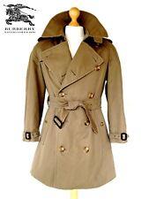 Vintage Mens corto Burberry Gabardina Abrigo Chaqueta de doble botonadura Mac Bespoke lluvia L/XL