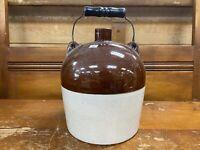 Large Antique Stoneware Crock 1 Gallon Jar Pottery