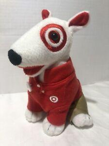 Target Bullseye Dog Plush Bull Terrier Red Polo Employee Logo Khakis