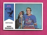 RARE 1974-75 OPC WHA # 31 JETS HEIKKI RIIHIRANTA ROOKIE VG CARD  (INV# D2912)