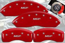 "2007-2008 BMW 335xi Front + Rear Red ""MGP"" Brake Disc Caliper Covers 4pc Set"