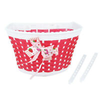 Bike Flowery Front Basket Bicycle Cycle Shopping Stabilizers Children Kids Girl^