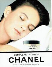 Publicité Advertising  0817  1993  Chanel  cosmétiques complexe intensif