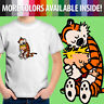 Calvin and Hobbes Hugging Best Friends Tiger Comic Toddler Kid Tee Youth T-Shirt