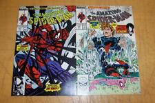 MARVEL COMICS AMAZING SPIDER-MAN 315 & 317 McFARLANE VENOM 1989