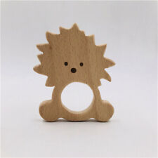 Wooden Animal Lion Shape Teething Ring Baby Teether Teething Toy Comfort Toy