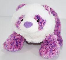 "Webkinz Pretty Panda Purple Plush Stuffed Bear Animal Lovey 9.5""  No Code"