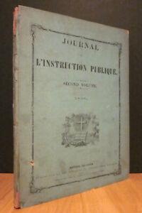 JOURNAL DE L'INSTRUCTION PUBLIQUE. SECOND VOLUME, 1858.
