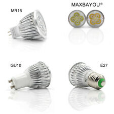 E27 GU10 MR16 LED Luces Bombillas Spotlight 3W 4W 5W Fría Blanco Cálido AC220V DC12V