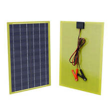 ECO 20Watt Epoxy Solar Panel W/2m Cable &30A Clip for 12V Camping Battery Charge