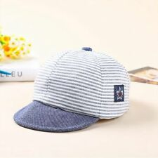 Summer Cotton Baby Hats Striped Soft Eaves Baseball Cap Baby Beret Sun Hat