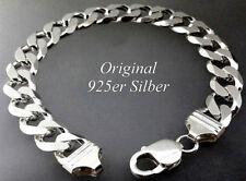 925 Silber 11,5mm Armband Armkette Panzerkette Unisex echt Silberarmband Armreif