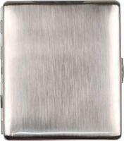 JEAN CLAUDE Zigarettenetui Metall nickel gebürstet für 9 Zigaretten 85 mm NEU
