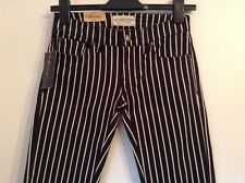 BNWT 100% auth Ralph Lauren Slim Fit / Skinny Piano Striped Jeans 24 RRP £149.00