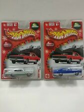 2 2004 Hot Wheels Holiday Rods 1967 Dodge Charger White and Blue 1/4