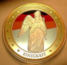 Concordia Einigkeit,Recht,Freiheit Ø70mm 110g PP mit Gold, Silber, Farbe vered.