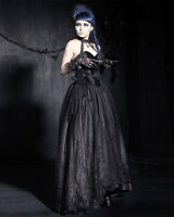 Punk Rave Baroness Dress Black Long Goth Steampunk VTG Prom Gown