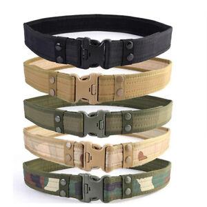 Men Tactical Belt Military Nylon Belt Waistband Camouflage Waist Strap Waistband