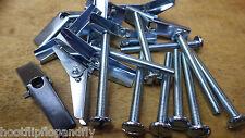 10 x M5 (5mm) x 50mm Metallo Tassello a Molla Cartongesso Cavità Riparazione